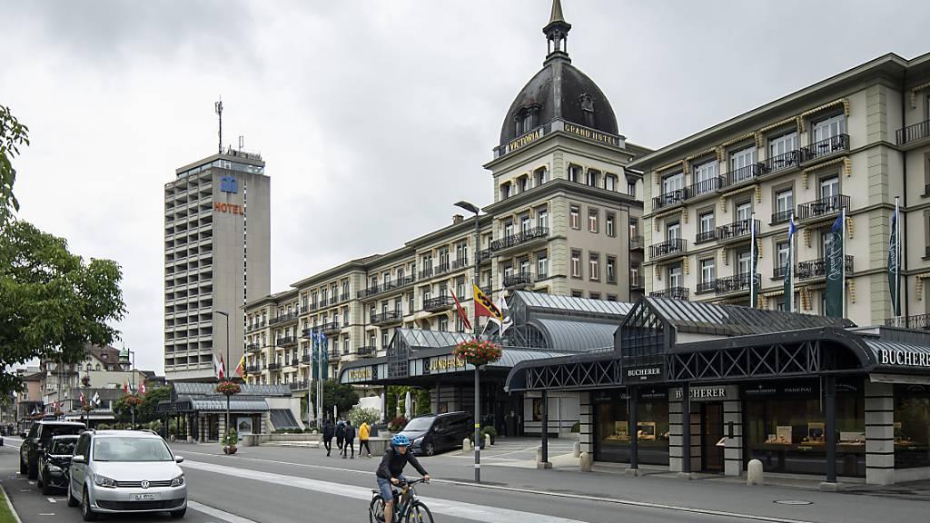 Im Oktober blieben erneut viele Hotelzimmer in der Schweiz leer. Vor allem mit ausländischen Gästen waren die Einbussen gross.(Archivbild)