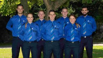 Das sind die sieben neuen Polizisten für Solothurn. Sie wurden am Donnerstag 22. September feierlich vereidigt.