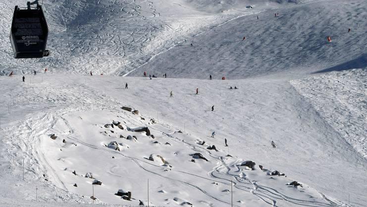 Die Sicht auf das Skigebiet in Méribel. Hier verunglückte Schumacher.