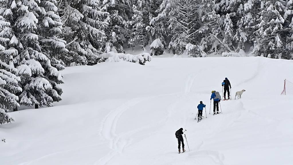 Vier Personen wurden am Sonntag im Gebiet Rochers-de-Naye oberhalb von Montreux (VD) von einer Lawine verschüttet. Es herrschte erhebliche Lawinengefahr. (Symboldbild)