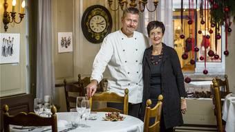Markus und Rosmarie Roth führten bis vor Kurzem das mit 15 Gault Millau-Punkten ausgezeichnete Restaurant «Hirschen» in Lenzburg.