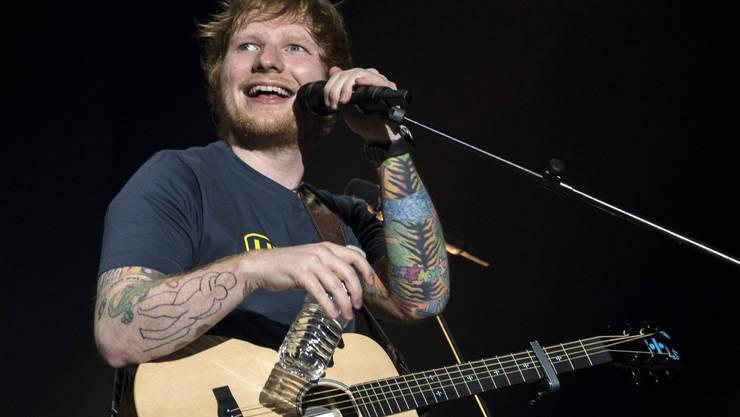 Ed Sheeran während seines Konzerts im Zürcher Hallenstadion