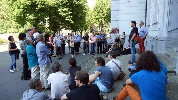 Erinnerungen, Fazit und Zukunftsprognosen zum 30-Jahre-Jubiläum der Grünen Baden - hier auf dem Schulhausplatz.