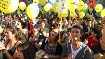 Im Sommer protestierten die Kantonsangestellten gegen die Sparpolitik der Baselbieter Regierung. (Archiv)