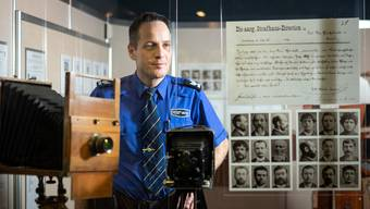Die Führungen sind bereits ausgebucht: Polizeisprecher Bernhard Graser im Museum in Aarau.