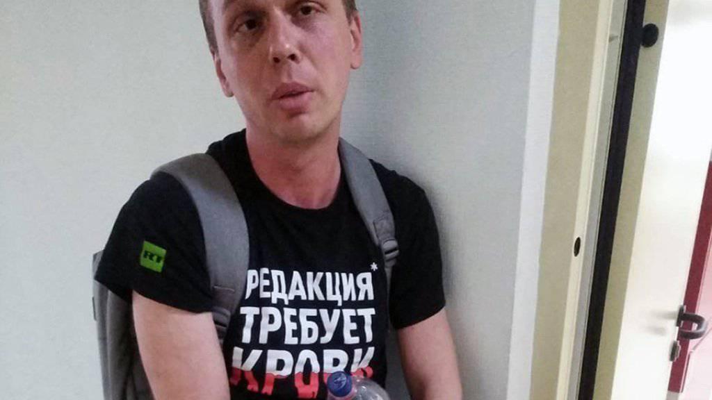 Der bekannte russische Enthüllungsjournalist Iwan Golunow (im Bild) muss in Hausarrest und darf seine Wohnung zwei Monate nicht verlassen. Er wird des Drogenhandels beschuldigt. (Archivbild)
