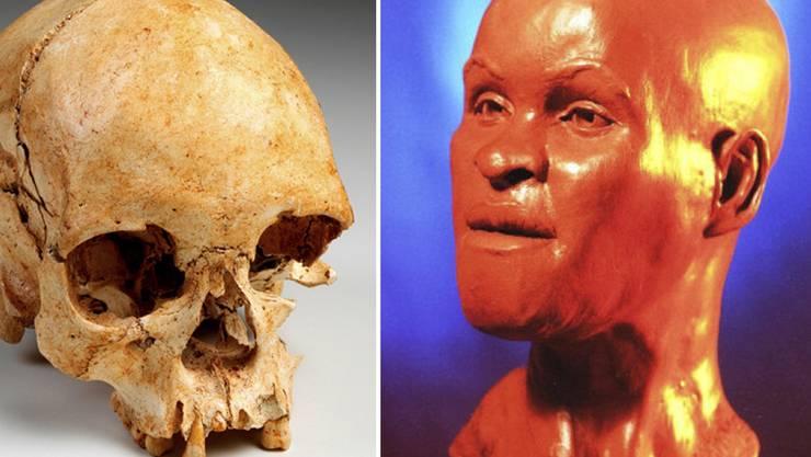 """Wissenschaftler haben nach dem Grossbrand im Nationalmuseum in Rio de Janeiro Teile eines weltbekannten 12'000 Jahre alten Menschen-Skeletts aus den Trümmern gerettet. Der Schädel des Urmenschen """"Luzia"""" sei fast vollständig erhalten. Die Skulptur einer Rekonstruktion wurde jedoch verbrannt."""