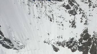 Zwischen Nadeljoch und Nadelhorn ob Saas-Fee stürzte der Berggänger aus dem Aargau in den Tod. Im Bild das Unfallgebiet.