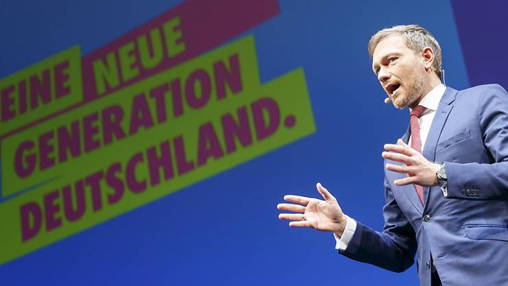 FDP-Chef Christian Lindner am Dreikönigstreffen in Stuttgart