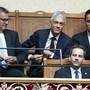 Bundesanwalt Michael Lauber (oben Mitte) freute sich über seine Wiederwahl.