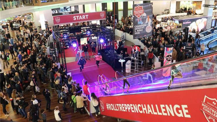 Viel Action auch an der Rolltreppen-Challenge letztes Jahr. zvg