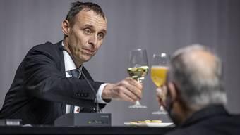 Pascal Furer nach seiner Wahl zum neuen Grossratspräsidenten