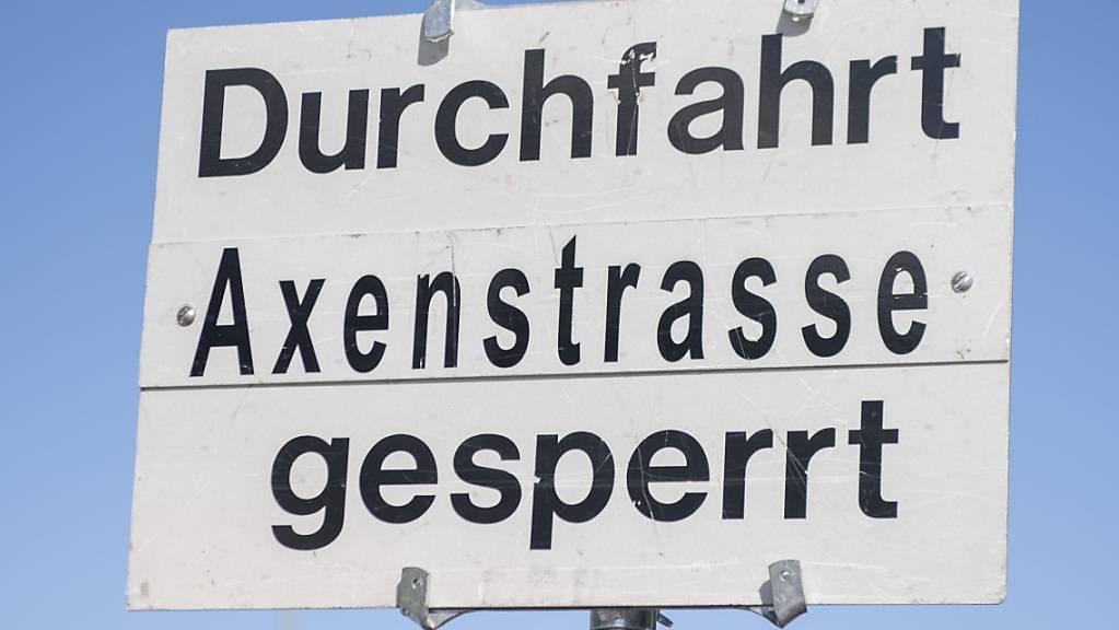 Die Sperrung der Axenstrasse wurde wieder aufgehoben. (Archivaufnahme)