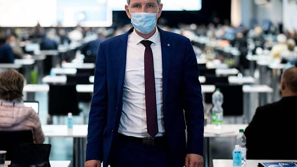 AfD-Rechtsaußen Björn Höcke hält die Pandemie für «herbeigetestet». Foto: Kay Nietfeld/dpa
