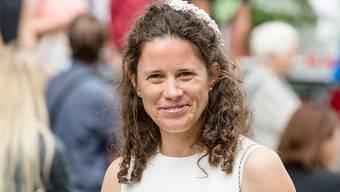 Gute Laune trotz Wetterkapriolen: Das Lachen ist der Jugendfestrednerin Verena Rohrer nicht vergangen.