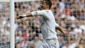 Cristiano Ronaldo jubelt nach seinem Treffer gegen Las Palmas