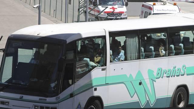 Bus mit freigelassenen Dissidenten