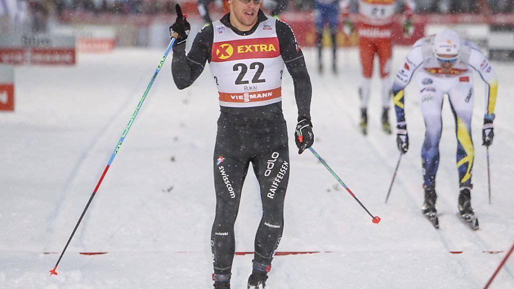 Jovian Hediger durfte mit seinem Auftritt in Kuusamo zufrieden sein