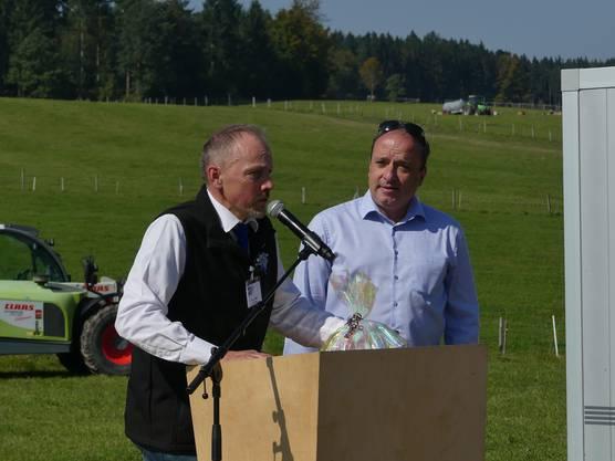 OK-Präsident Hugo Abt (links) konnte auch Regierungsrat Markus Dieth an der Horba 2017 begrüssen.
