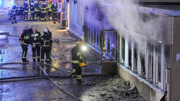 Beim Brand der Moschee in Eskilstuna wurden fünf Menschen verletzt.