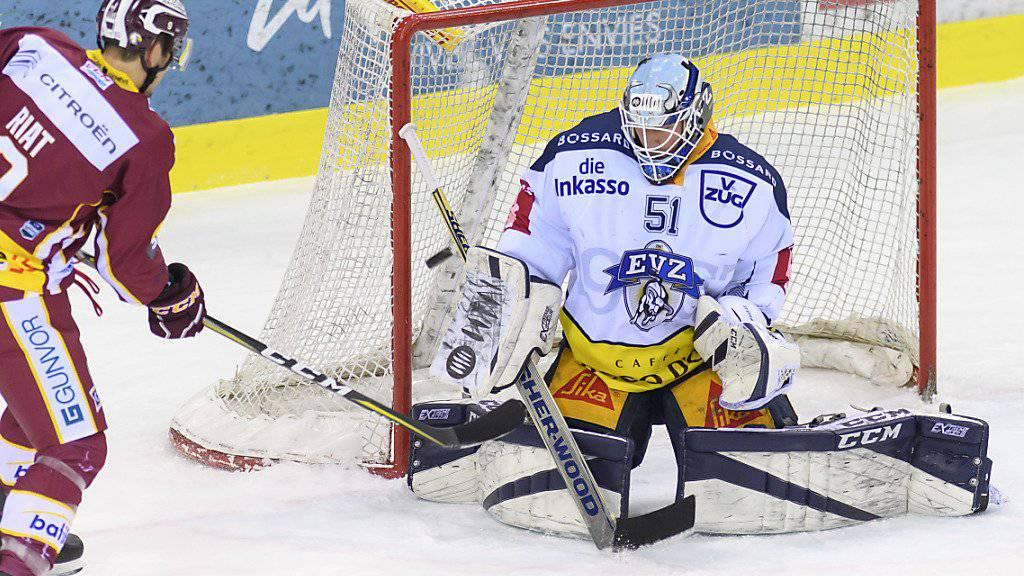 EVZ-Goalie Tobias Stephan wird am Spengler Cup nicht spielen können