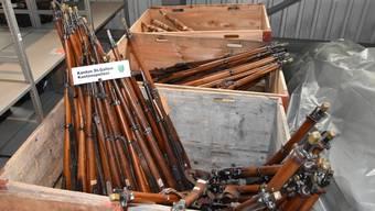 St. Galler Kantonspolizei hebt illegales Waffenarsenal aus.