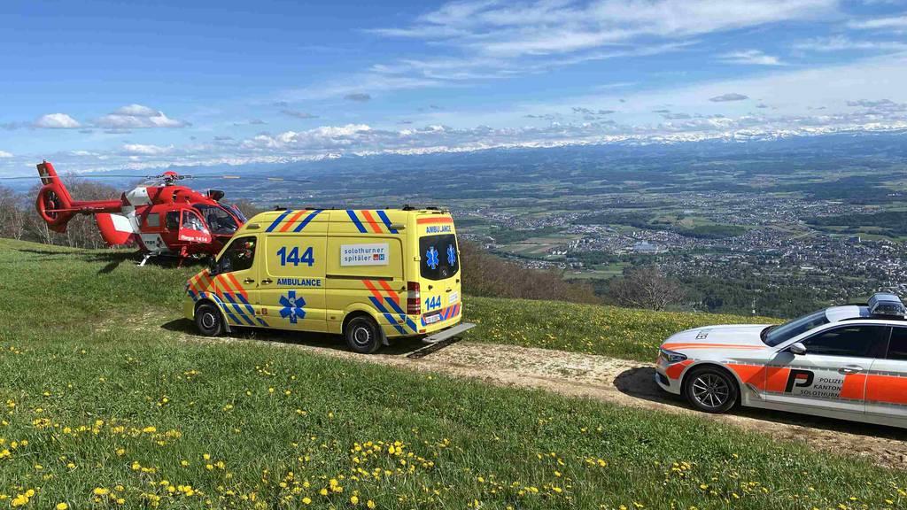 Gleitschirmpilot nach Absturz auf Weissenstein schwer verletzt