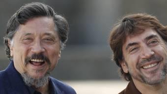 """Die Schauspieler, Umweltaktivisten und Brüder Carlos (l.) und Javier Bardem besuchen am Donnerstagabend das Zurich Film Festival und präsentieren ihren neuen Film """"Sanctuary""""."""