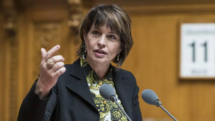 Alt-Bundesrätin Doris Leuthard spricht an CVP-Veranstaltungen über die Klimapolitik. (Archiv)