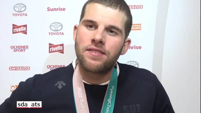 Marc Bischofberger nach der Medaillenübergabe