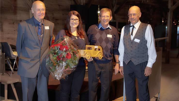 Die vierte Generation übernimmt: Die Gebrüder Hansruedi, Kurt und Max Meier (von links) übergeben das Unternehmen per 1. Januar an Anja Meier. zvg.