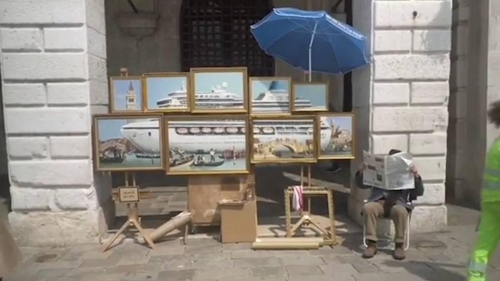 War Banksy an der Biennale - und niemand hat's gemerkt?!