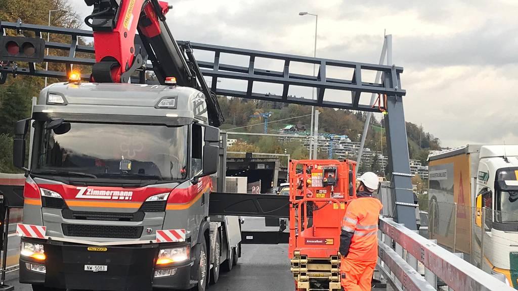 Unfall auf der A2-Baustelle am Lopper