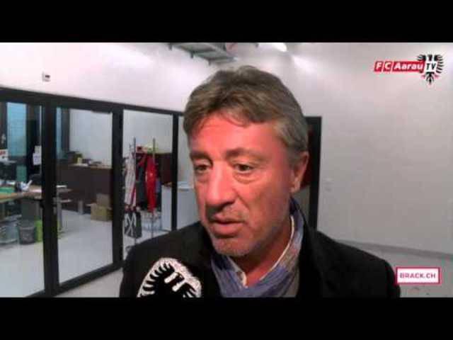 «Ein Aufbäumen war da»: Cheftrainer Marco Schällibaum und Captain Sandro Burki zum Spiel FC Biel/Bienne - FC Aarau 3:1 (01.11.2015, Runde 14)