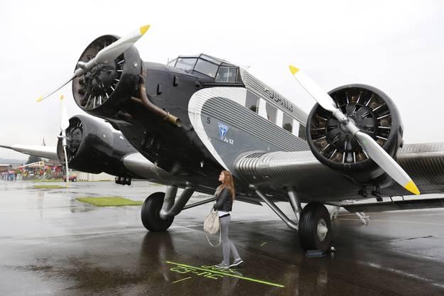Die Ju-52 ist ein Blickfang