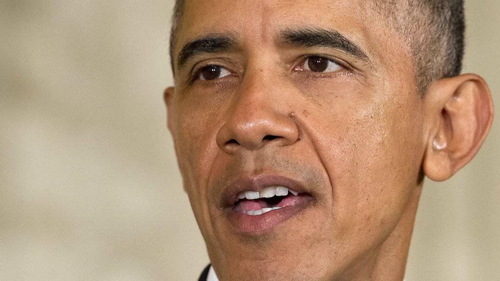 """""""Werden den IS zerstören"""": Präsident Barack Obama bei seiner Rede an die Nation. (Archiv)"""
