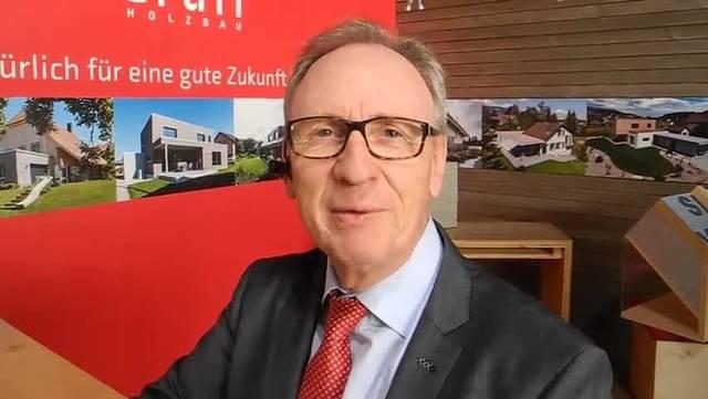Benno Krämer, Organisator der Eigenheim-Messe zum Auftakt
