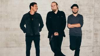 Die Punkrockband «Selbstbedienung»: Simon Mäder, Luca Maurer und Simon Graf (von links).