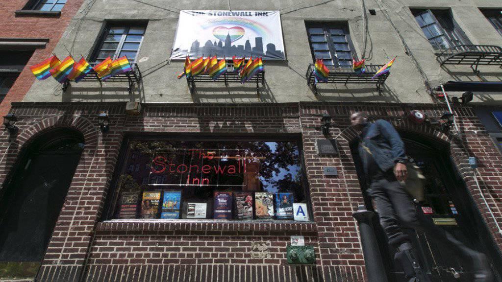 """Das """"Stonewall Inn"""" in New York's Greenwich Village ist jetzt ein US-Nationaldenkmal."""