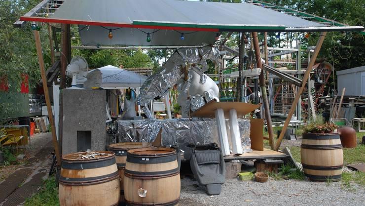 Insgesamt arbeiten 33 Bildhauerinnen und Bildhauer auf dem Gaswerk-Areal.