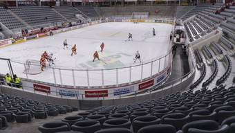 Die letzten Spiele der Eishockey-Liga fanden ohne Publikum statt.