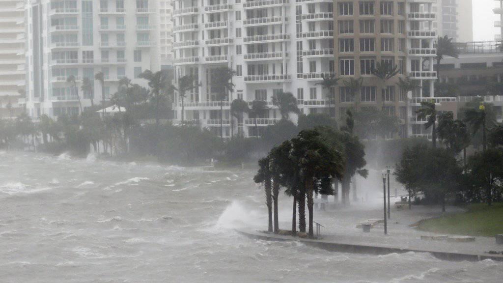 Schäden, wie jene, die Hurrican Irma in Miami verursachte, machten 2017 weltweit zum teuersten Jahr für die Versicherungen. (Archiv)