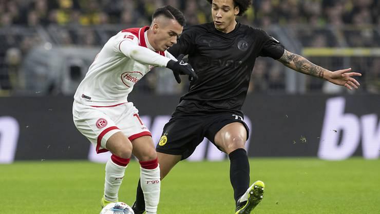 Dortmunds Axel Witsel (rechts) stand am Samstag gegen Düsseldorf noch im Einsatz