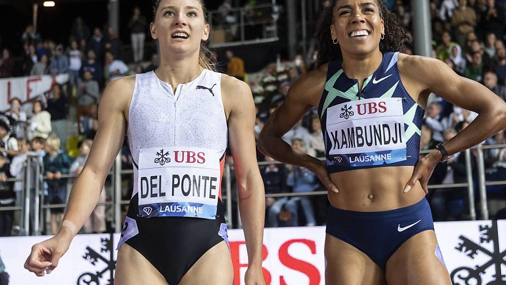 Ajla Del Ponte (links) and Mujinga Kambundji überzeugten auch in Lausanne