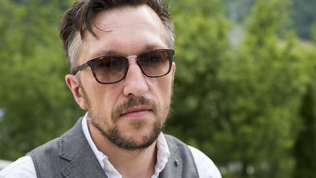 Lukas Bärfuss - hier im Juli am 20. Internationalen Literaturfestival Leukerbad  - ist der erste Schweizer, der den Nicolas-Born-Preis bekommt (Archiv)