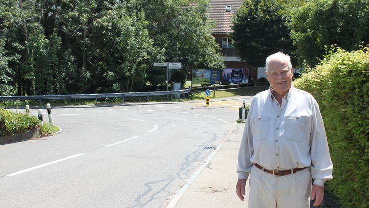 Besonders an der Verzweigung Bergstrasse, Kindhauserstrasse und Herrenbergstrasse komme es zu brenzligen Situation, sagt Hans-Rudolf Schneider-Koch.