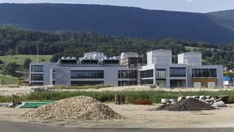 Die Baustelle von CSL Behring in Lengnau.