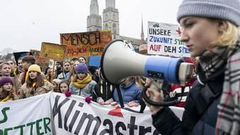 Von den Klimastreiks versprechen sich die Jugendlichen von der Politik Lösungen.