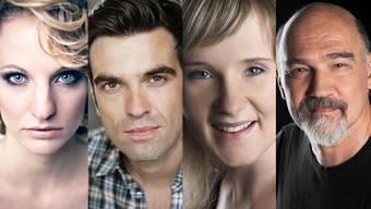 Regisseurin Martina Lory, Nathanael Schaer (Best Friends), Claudia Kübler( Ewigi Liebi) und Christoph Wettstein (Tatort)
