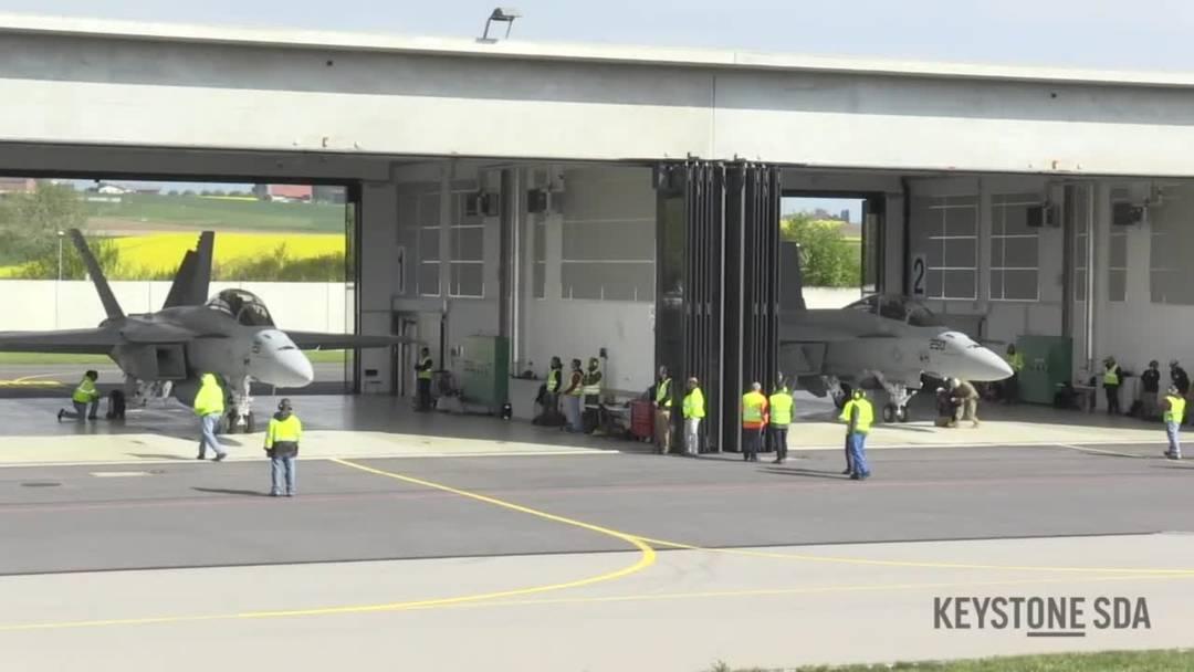 Die F/A-18 Super Hornet: Drei dieser Kampfjet werden derzeit in Payerne von der Schweizer Armee getestet.